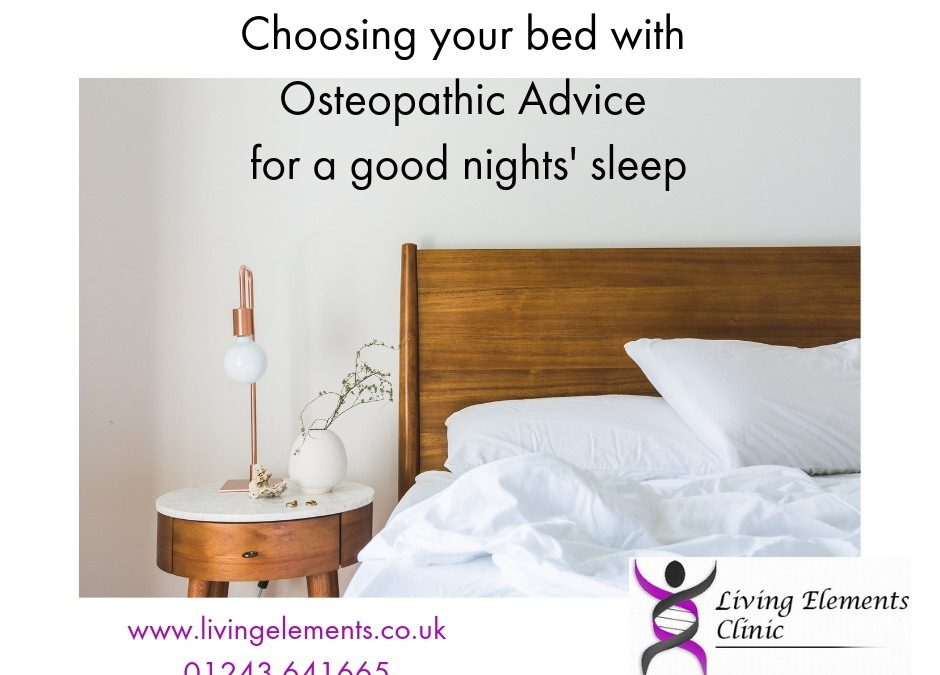 Choosing your bed – osteopathic advice